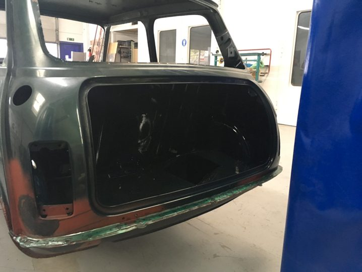 Mini Rover Classic SPI 1995 1993 Restauration minifrogs Erbsle Lackierung british racing green